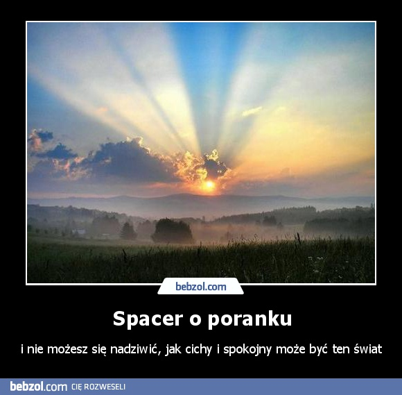 Spacer o poranku