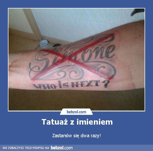 Tatuaż Z Imieniem Bebzolcom