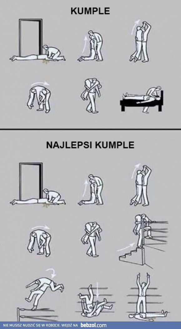 Kumple vs najlepsi kumple