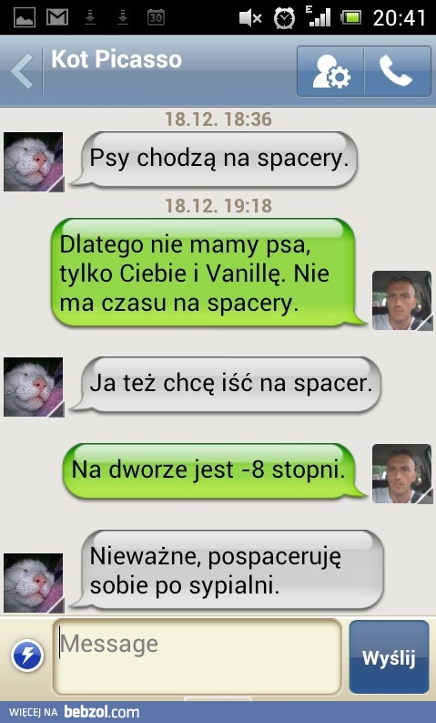Ja chcę na spacer