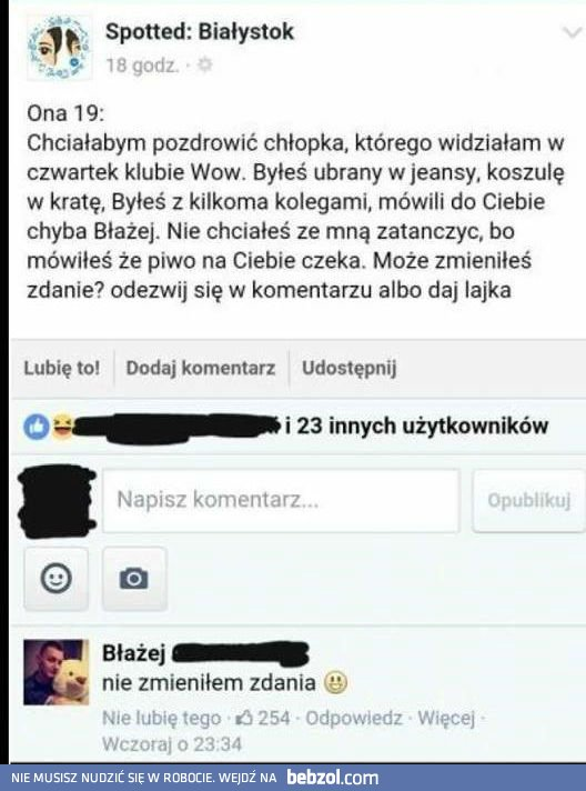 Co na to Błażej?